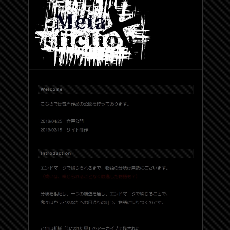 Meta×fiction